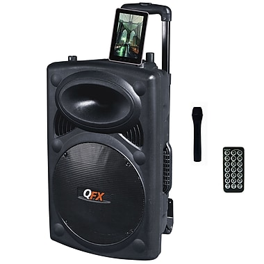 QFX PBX-3200BT Battery Powered PA System, 450 W