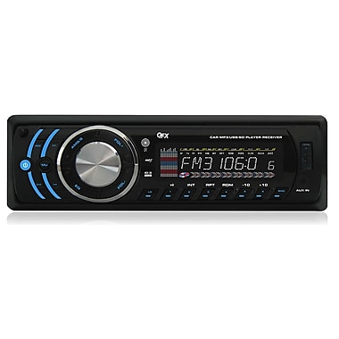 QFX 134US Car Stereo AM/FM Radio With MP3/USB/SD Reciver USB/SD Port, Black