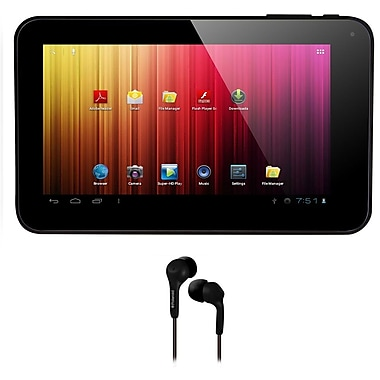 Axess® 7in. 4GB Dual Camera Tablet With Android 4.1, Black Bundle