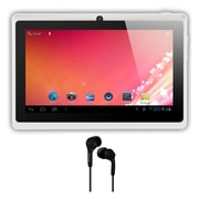Axess® 7 4GB Tablet With Android 4.1, White Bundle