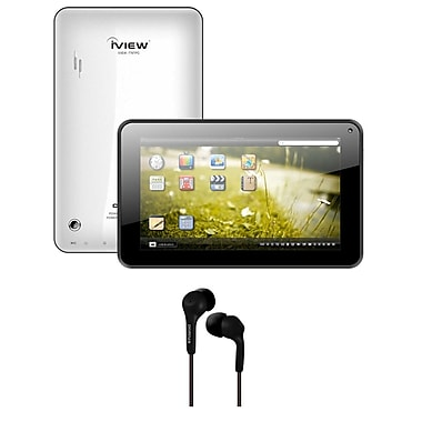 iView® 7in. 4GB Capacitive Multi Touch 800x 480 Resolution Tablet Bundle With Android 4.2