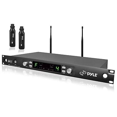Pyle® PDWM3450 Premier Series Professional UHF Microphone Rackmountable System, Black