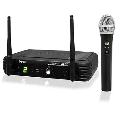 Pyle® PDWM1902 Premier Series Professional UHF Wireless Handheld Microphone System, Black