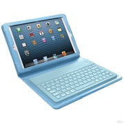 Mgear Accessories 93588015M Leather Bluetooth Keyboard Folio Case for Apple iPad Mini Tablet, Blue