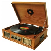 Back To The 50's TB-2915 3 Speed Wooden Turntable, 33/45/78 RPM