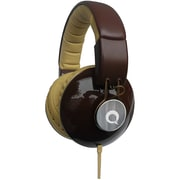 QFX DJ Style Stereo Headphones, Brown