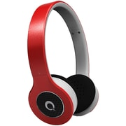 QFX Stereo Headphones , Red