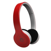 QFX Bluetooth Stereo Headphones With Microphone Built In Rechargeable Battery, Red