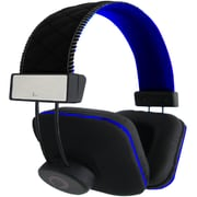 QFX H-202 Stereo Headphone with In-line Mic, Blue