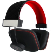 QFX H-202 Stereo Headphone with In-line Mic, Red