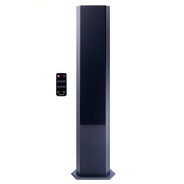 Craig® CHT928 Hexagonal Tower Speaker, FM Radio With Bluetooth Wireless Technology