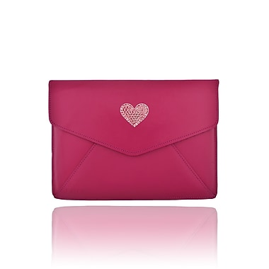 Deos SWAROVSKI Mini Tech Clutch Case With Light Rose Crystal Heart For iPad, Pink