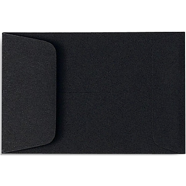 LUX® 2 1/4in. x 3 1/2in. #1 Open End Coin Envelopes, Midnight Black, 50/Pack