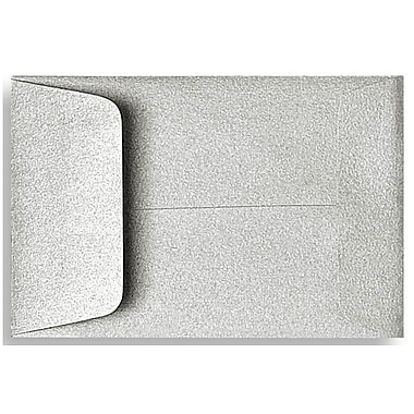 LUX® 2 1/4in. x 3 1/2in. #1 Open End Coin Envelopes, Silver Metallic, 50/Pack