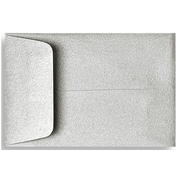 "LUX® 2 1/4"" x 3 1/2"" #1 Open End Coin Envelopes, Silver Metallic, 50/Pack"