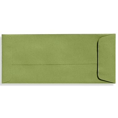 LUx Moistenable Glue #10 Open End Envelopes (4 1/8 x 9 1/2) 50/box, Avocado Green (Ex7716-27-50)