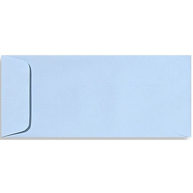 LUX Peel & Press #10 Open End Envelopes (4 1/8 x 9 1/2) 500/Box, Baby Blue (EX7716-13-500)