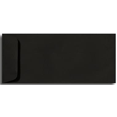 LUX® 4 1/8in. x 9 1/2in. #10 80lbs. Open End Envelopes, Black Linen, 50/Pack