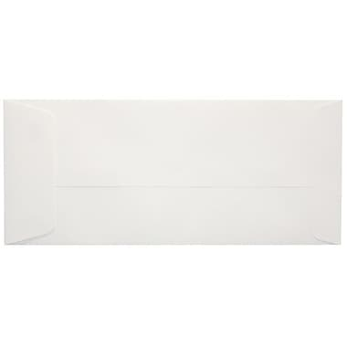 LUX® 4 1/8in. x 9 1/2in. #10 80lbs. Open End Envelopes, Bright White, 50/Pack