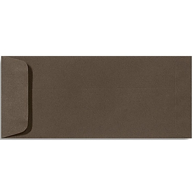 LUX Peel & Press #10 Open End Envelopes (4 1/8 x 9 1/2) 500/Box, Chocolate Brown (EX7716-17-500)