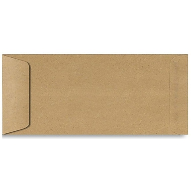 LUX® 4 1/8in. x 9 1/2in. #10 70lbs. Open End Envelopes, Grocery Bag Brown, 50/Pack