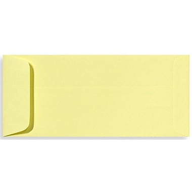 LUX Peel & Press #10 Open End Envelopes (4 1/8 x 9 1/2) 50/Pack, Lemonade (EX7716-15-50)