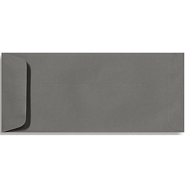 LUX Peel & Press #10 Open End Envelopes (4 1/8 x 9 1/2) 250/Box, Smoke Gray (EX7716-22-250)