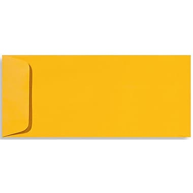 LUX Peel & Press #10 Open End Envelopes (4 1/8 x 9 1/2) 250/Box, Sunflower Yellow (EX7716-12-250)