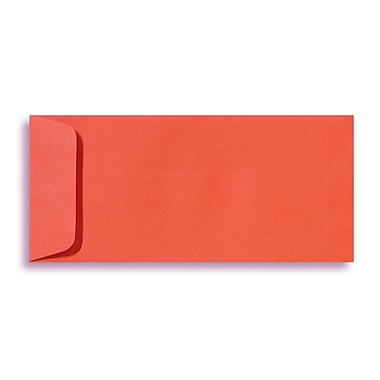 LUX Peel & Press #10 Open End Envelopes (4 1/8 x 9 1/2) 50/Pack, Tangerine (LUX-7716-112-50)