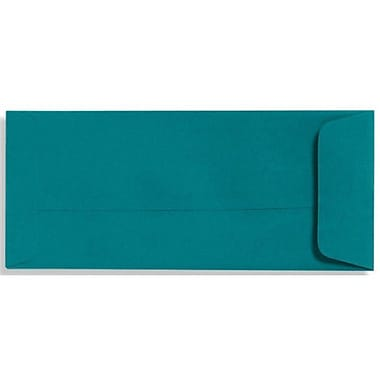 LUX® 4 1/8in. x 9 1/2in. #10 70lbs. Open End Envelopes, Teal Blue, 50/Pack