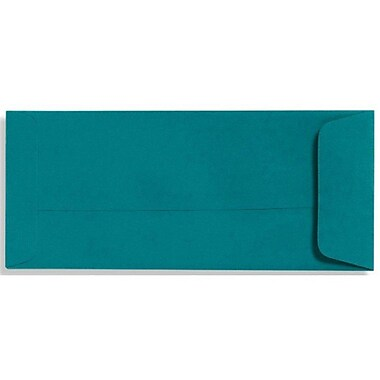 LUX Peel & Press #10 Open End Envelopes (4 1/8 x 9 1/2) 1000/Box, Teal (LUX-7716-25-100)