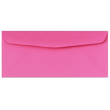 LUX Moistenable Glue #10 Regular Envelopes (4 1/8 x 9 1/2) 50/Pack, Bright Fuchsia (4260-16-50)