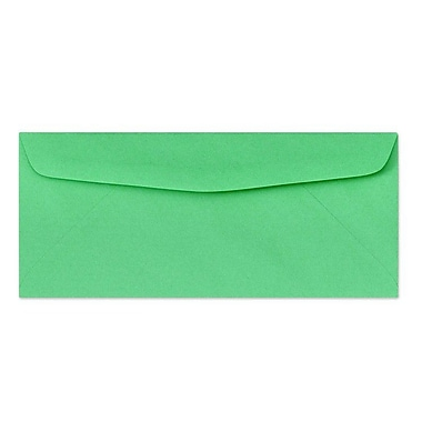 LUX® 60lbs. 4 1/8in. x 9 1/2in. #10 Bright Regular Envelopes, Bright Green, 1000/BX