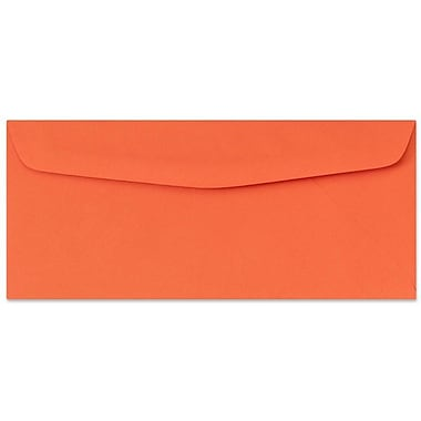 LUX® 4 1/8in. x 9 1/2in. #10 60lbs. Bright Regular Envelopes, Orange, 50/Pack