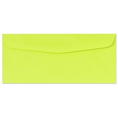 LUX Moistenable Glue #10 Regular Envelopes (4 1/8 x 9 1/2) 50/Pack, Electric Green (4260-22-50)
