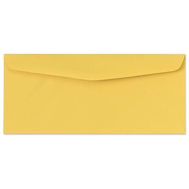 LUX® 4 1/8in. x 9 1/2in. #10 60lbs. Regular Envelopes, goldenrod yellow, 50/Pack