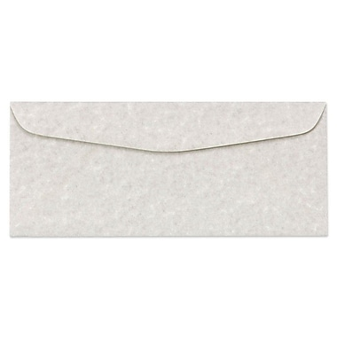 LUX Moistenable Glue - #10 Regular Envelopes (4 1/8 x 9 1/2) - 250/Box - Gray Parchment (6660-13-250)