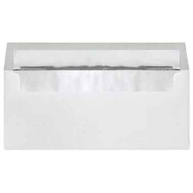 LUX® 4 1/8in. x 9 1/2in. #10 24lbs. Square Flap Envelopes, Silver Foil Lining, 50/Pack