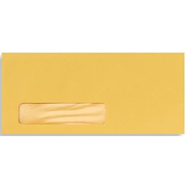 LUX® 4 1/8in. x 9 1/2in. #10 Window Envelopes, goldenrod yellow, 50/Pack
