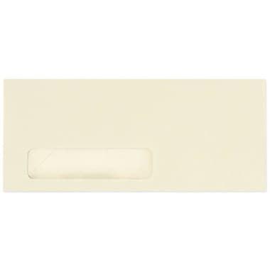 LUX Moistenable Glue #10 Window Envelopes (4 1/8 x 9 1/2) 50/Pack, Ivory (4056-50)