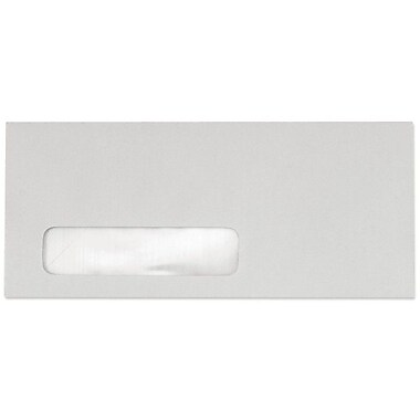 LUX #10 Window Envelopes (4 1/8 x 9 1/2) 50/box, Pastel Gray (51384-50)