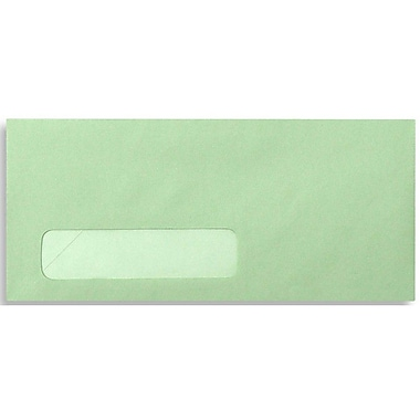 LUX Moistenable Glue #10 Window Envelopes (4 1/8 x 9 1/2) 500/Box, Pastel Green (4058-500)