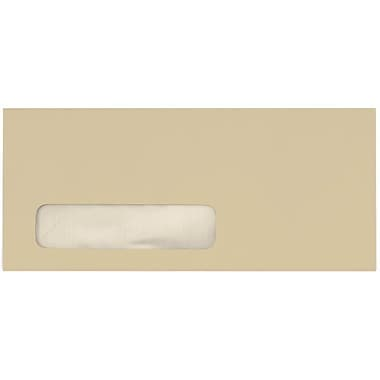 LUX Moistenable Glue - #10 Window Envelopes (4 1/8 x 9 1/2) - 50/Pack - Tan (28817-50)