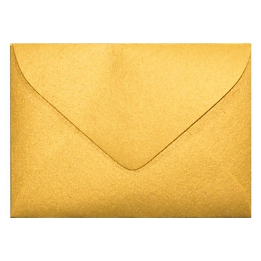 LUX #17 Mini Envelopes (2 11/16 x 3 11/16) 500/Box, Gold Metallic (MINSDG-500)