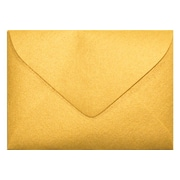 "LUX® 80lbs. 2 11/16"" x 3 11/16"" #17 Mini Envelopes W/Glue Closure, Gold Metallic, 250/BX"