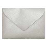 LUX® 80lb 2 11/16x3 11/16 Pointed Flap Mini Envelopes W/Glue, Silver Metallic, 1000/BX