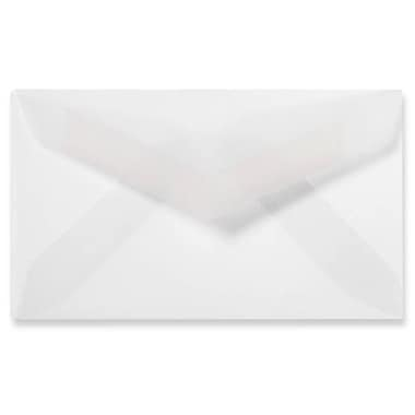 LUX® 30lb 2 1/8in.x3 5/8in. Pointed Flap Mini Envelopes, Clear Translucent, 500/BX