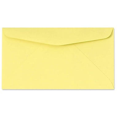 LUX Moistenable Glue #6 3/4 Regular Envelopes (3 5/8 x 6 1/2) 50/Pack, Pastel Canary (726781-50)