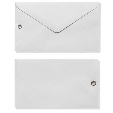 LUX #63 Mini Envelope with Grommet (2 1/2 x 4 1/4) 50/Box, White (EN6303-50)