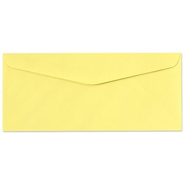 LUX Moistenable Glue #9 Regular Envelopes (3 7/8 x 8 7/8) 50/Pack, Pastel Canary (73056-50)